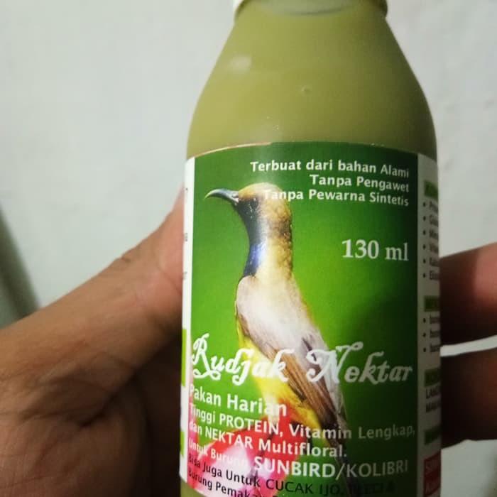 Rudjak Nektar Pakan Burung 130ml Pg506 Shopee Indonesia