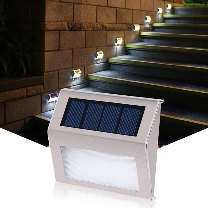 Solar Lights 3led Stainless Steel