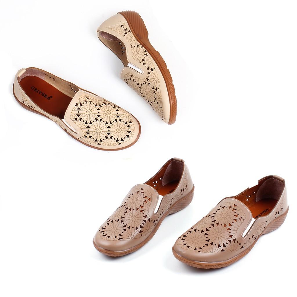 Grivera Sepatu Wanita Flat Shoes Laser My22 Cream Spec Dan Daftar Linalee Clarisa Bng Corner Slip On