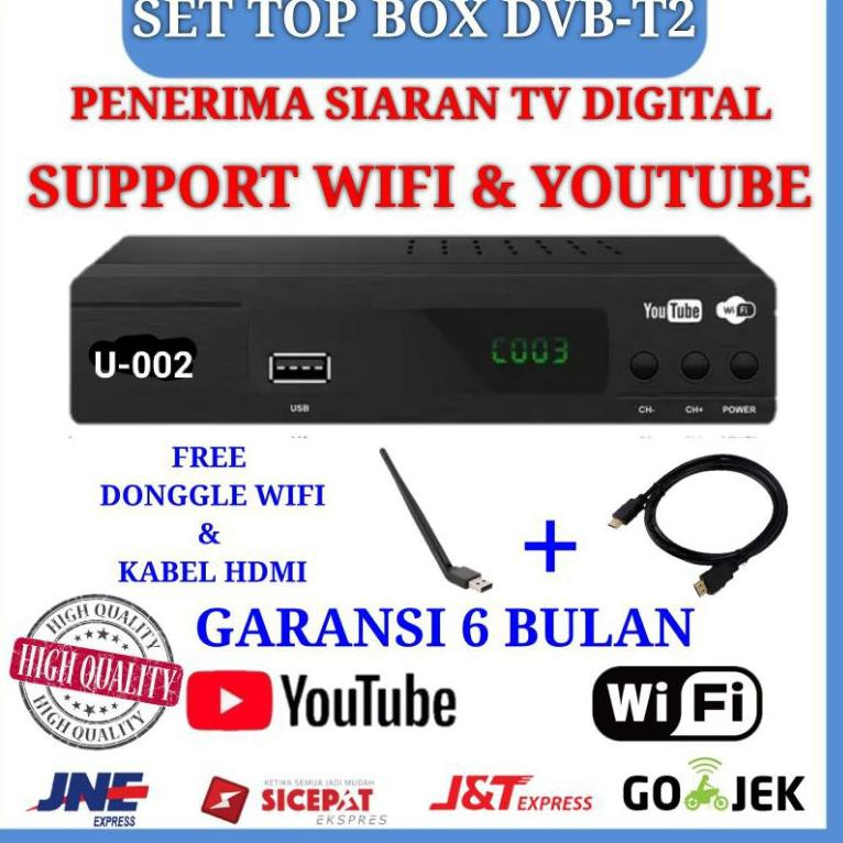[ART. 78690] EZ-BOX SET TOP BOX DVB-T2 PENERIMA SIARAN TELEVISI DIGITAL YOUTUBE WIFI