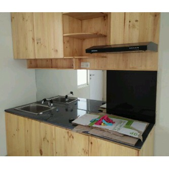 Kitchen Set Lemari Dapur Minimalis Desain Full Kayu Jati Belanda