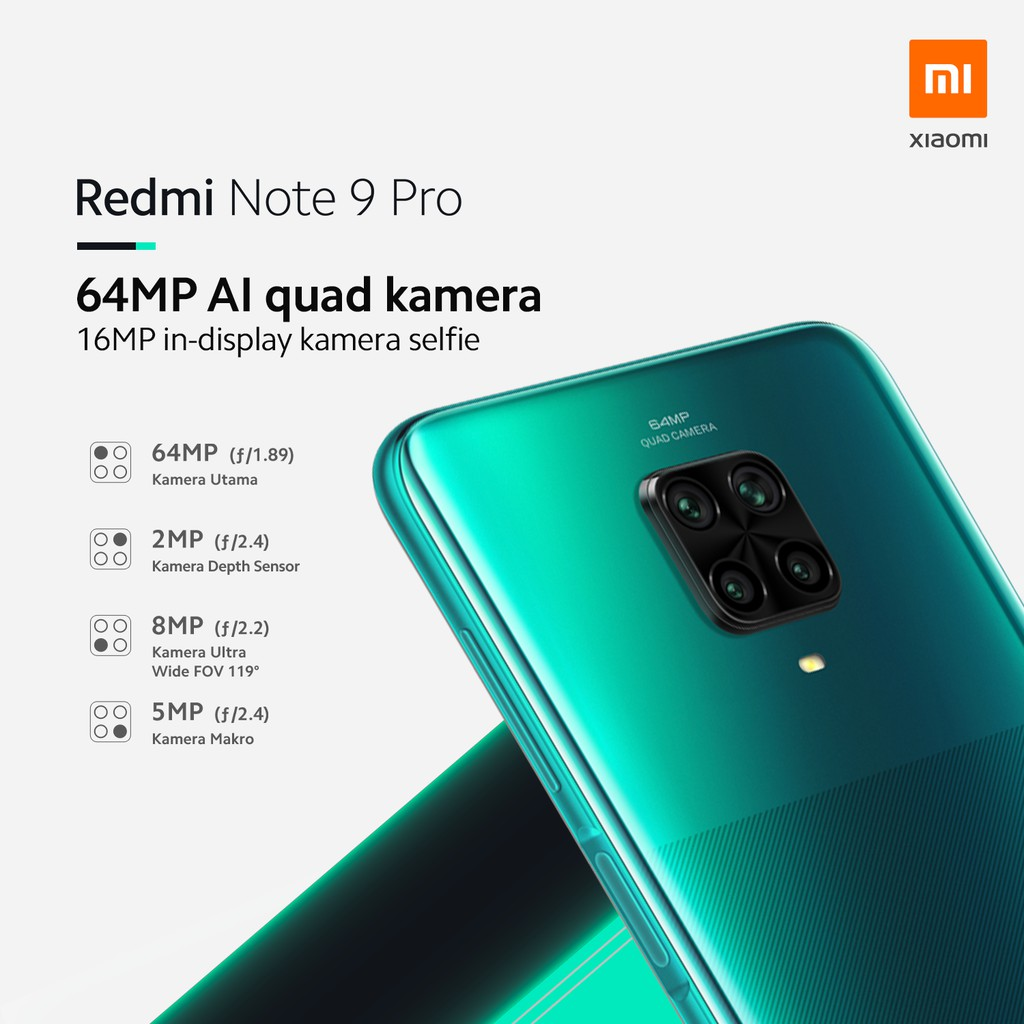 Xiaomi Redmi Note 9 Pro 6gb 64gb Snapdragon720g 5020mah Shopee Indonesia