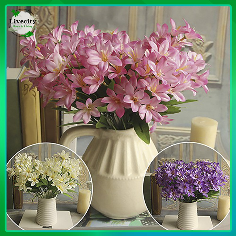 Bunga Lili Palsu Yang Cantik Ukuran Mini Untuk Dekorasi Buket Pernikahan 24 Buah Bunga Di 1 Buket Shopee Indonesia