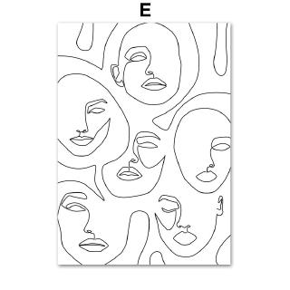 Sexy Woman Abstract Line Body Art Quotes Wall Art Canvas Painting Nordic Poster Prints Wall Pictures For Living Room Decoration No Framed Shopee Indonesia