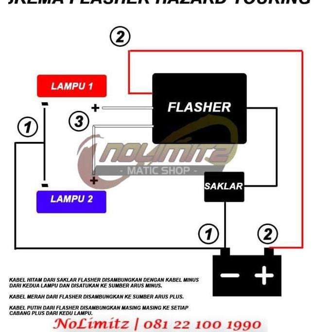 Flasher Lampu Sein Strobo Hazard Touring Adjustable Nmax Xmax Aerox