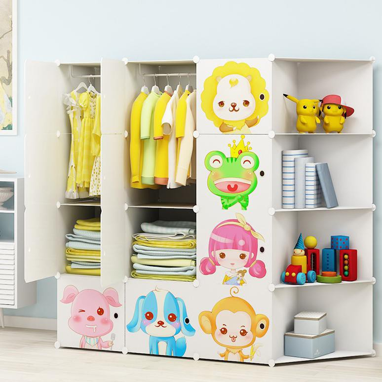 Cuci Gudang Rak Lemari Pakaian Bahan Kayu Simple Desain Ikea Custom Untuk Kamar Anak Shopee Indonesia