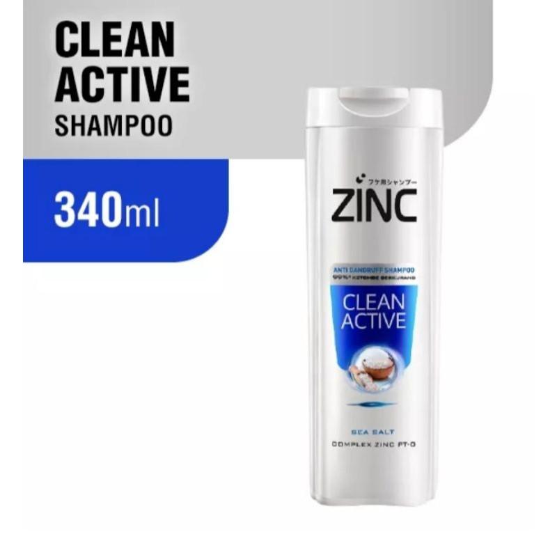 (340 ml) zinc shampoo botol besar-Clean active