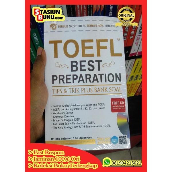 BUKU TOEFL BEST PREPARATION TIPS DAN TRIK PLUS BANK SOAL FREE CD