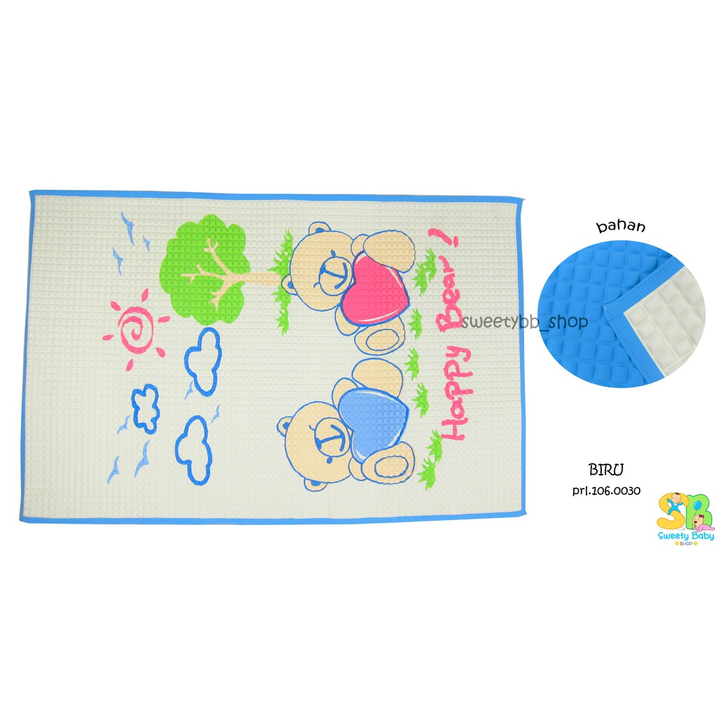 Perlak Karet Organik Bayi Sugar Baby Uk 90x60 Cm Alas Mandi Dan Model Blue Lion Ompol Shopee Indonesia