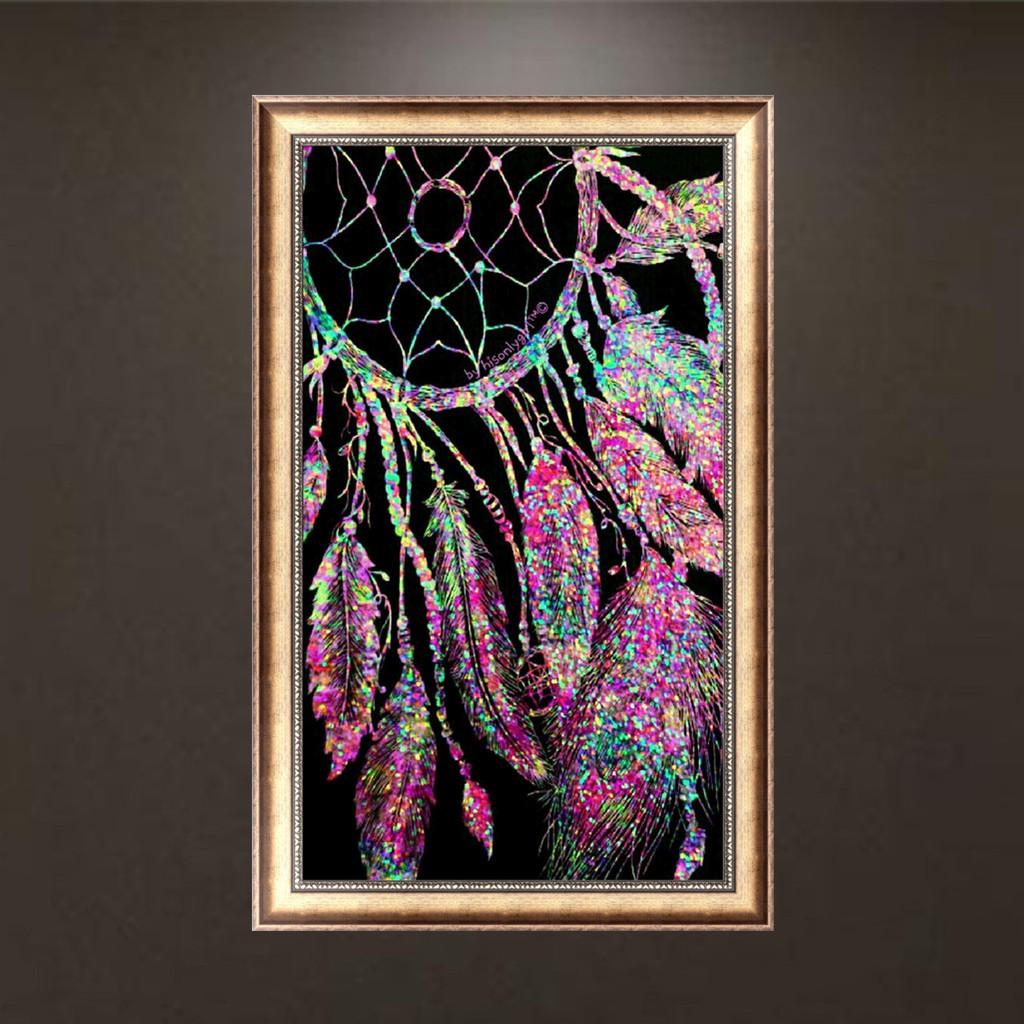 Lukisan Sulaman Berlian 5D Jahitan Bersilang Desain Wind Chimes DIY
