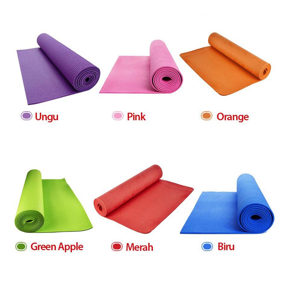 Matras Yoga, Yoga Mat, Pilates Mat, Alat Fitness Rumah, GYm , Kettler   Shopee Indonesia