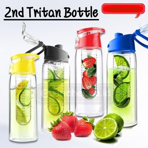 Paling Laku Tritan Water Bottle With Fruit Infuser 600ml | Shopee Indonesia