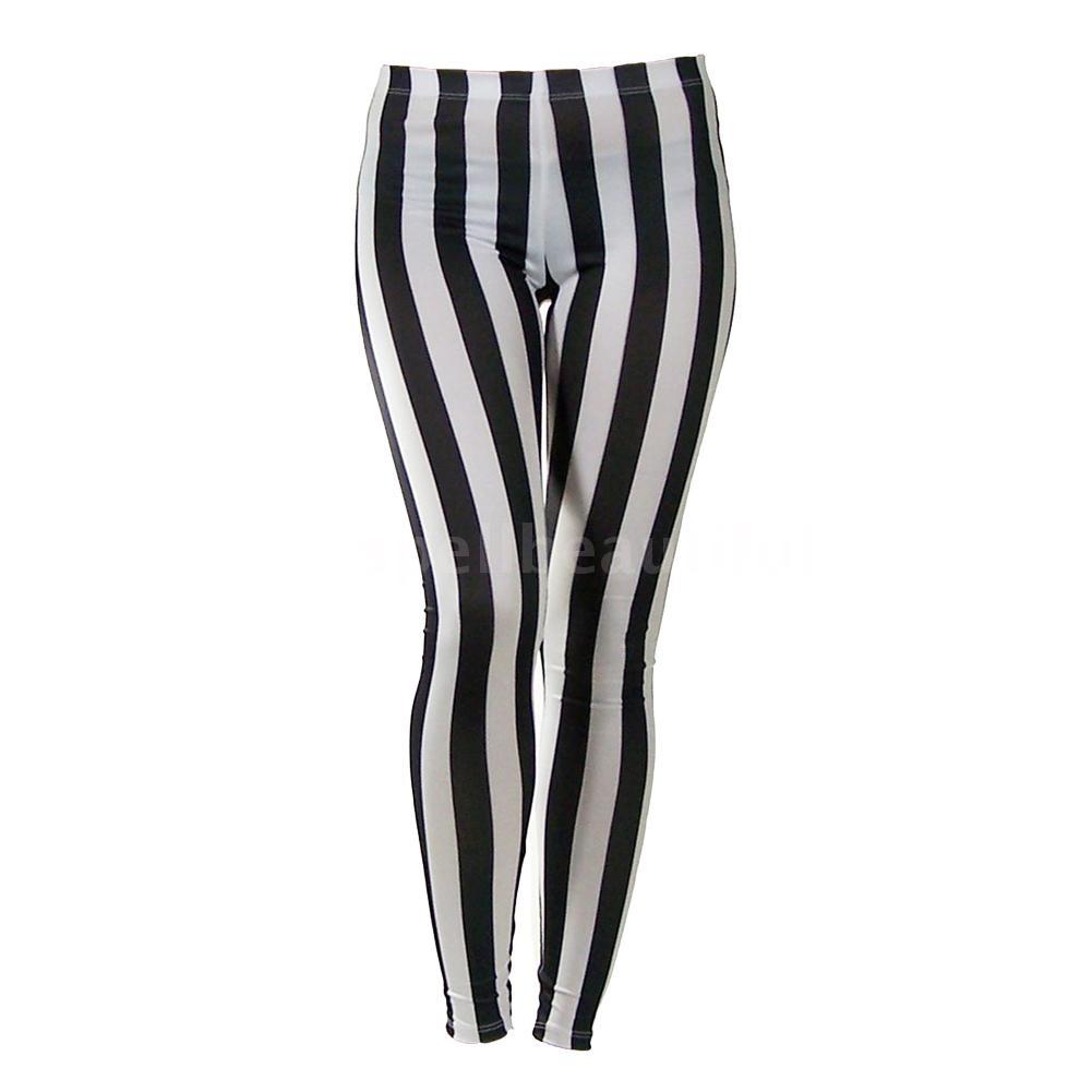 Celana Panjang Legging Ketat Sexy Motif Garis Vertikal Zebra Hitam Putih Untuk Wanita Shopee Indonesia