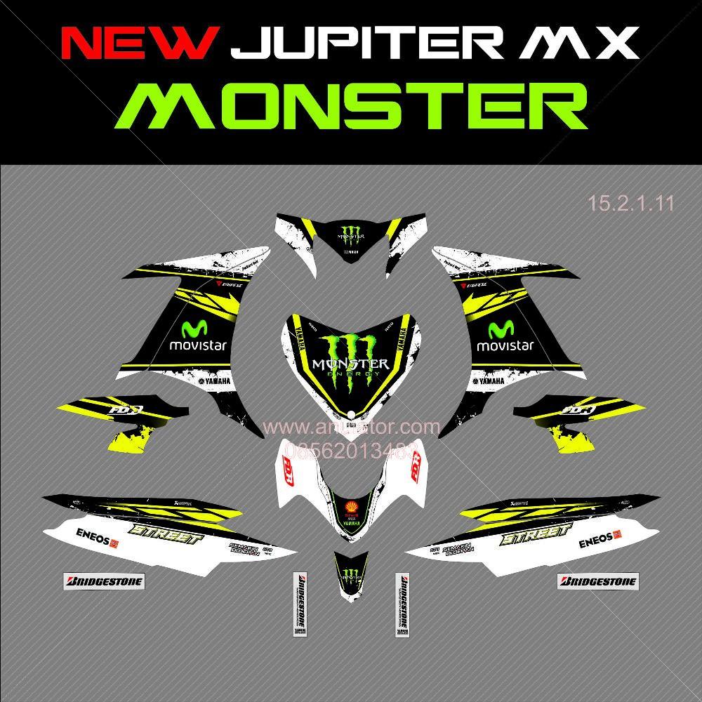 Sticker striping motor stiker yamaha new jupiter mx movistar rossi 2015 spec b shopee indonesia