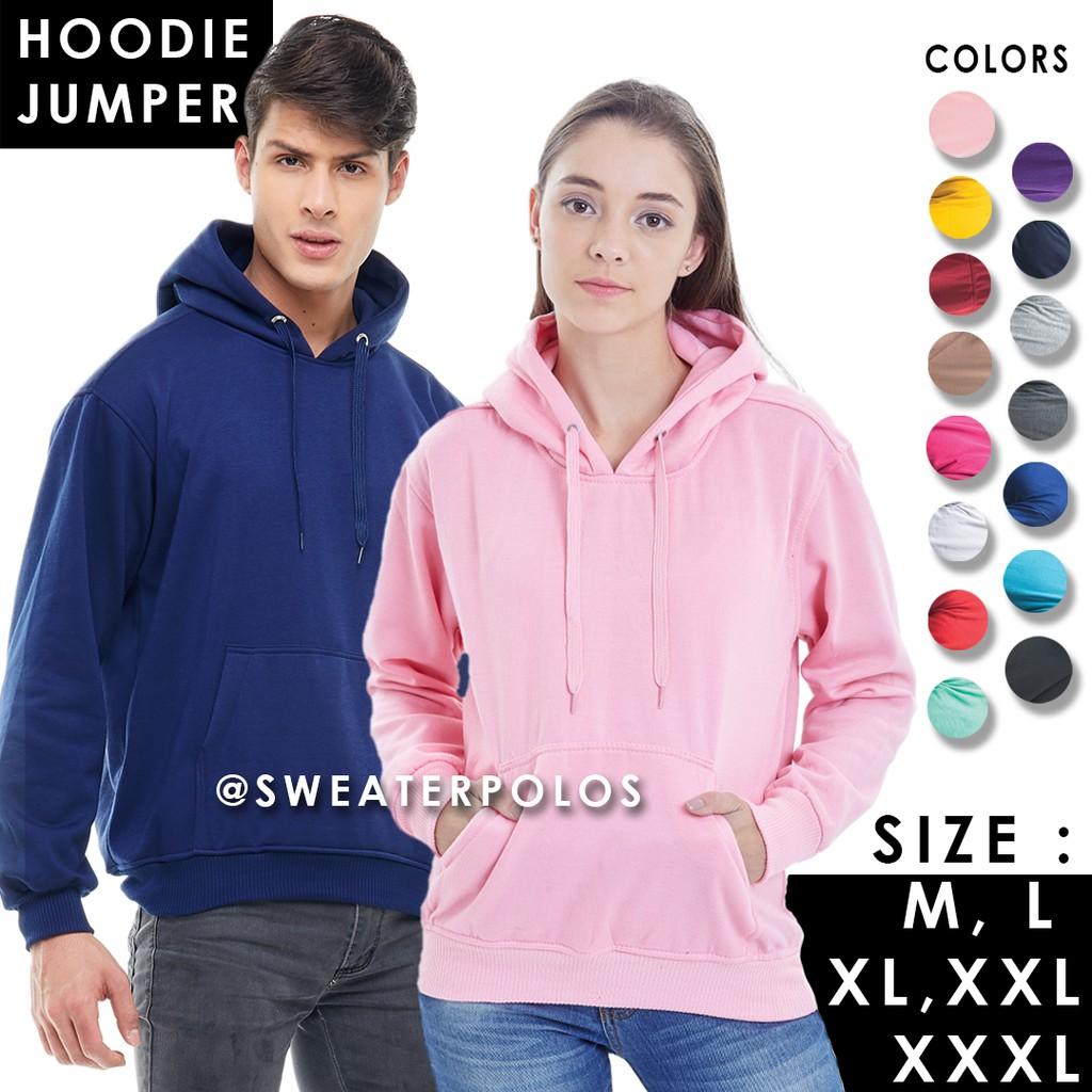 07dd9c0a5265 Sweater Wanita Desain Supreme dengan Hoodie dan Bahan Fleece Warna  Hitam Abu-Abu Biru Pink