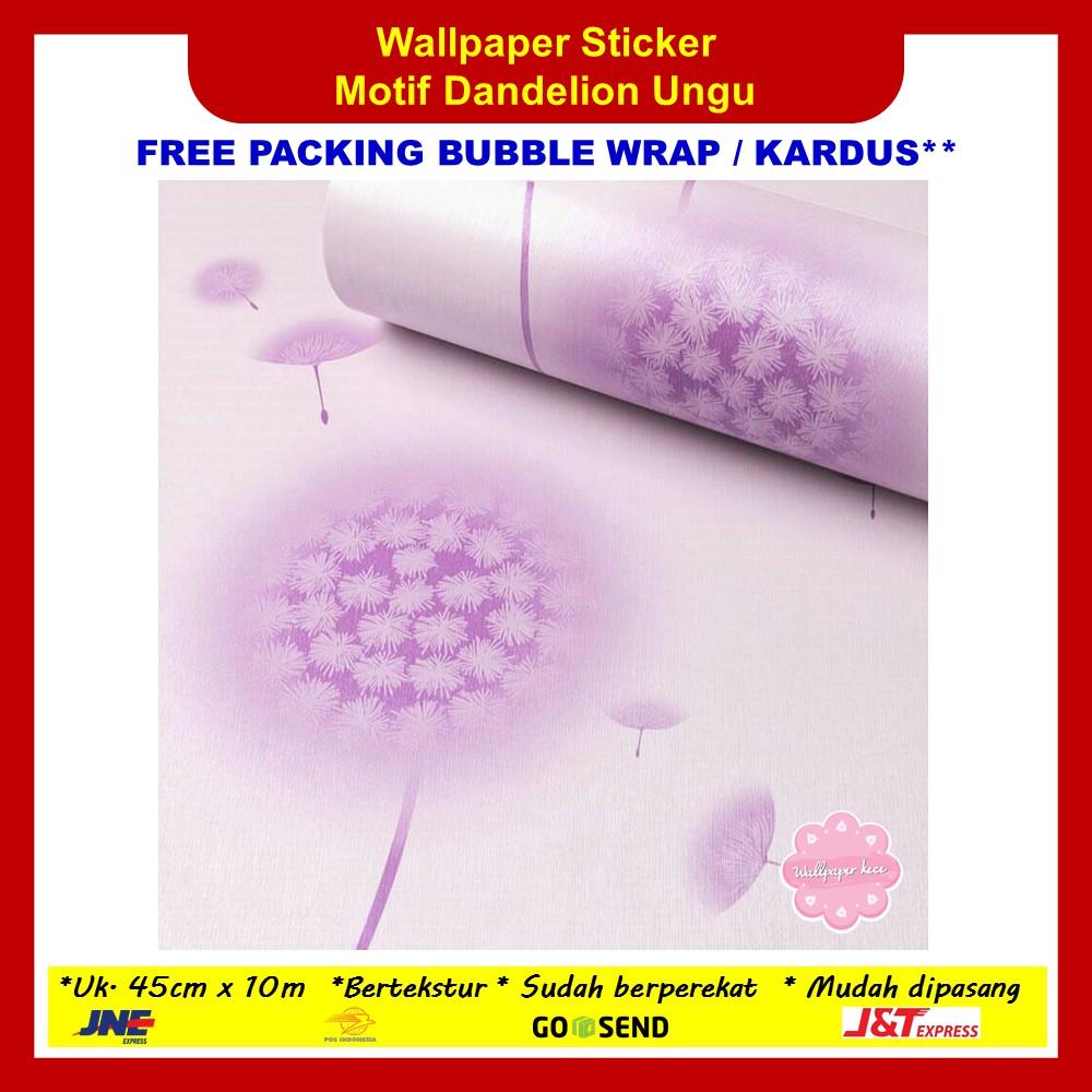 Wallpaper Sticker Dinding 45cm x 10m Dandelion Ungu Walpaper Dinding Stiker | Shopee Indonesia
