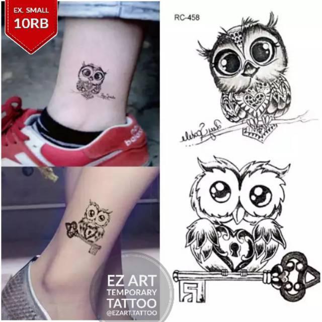 Burung Hantu Imut Cute Temporary Tattoo Tato Temporer Fashion Premium Quality Shopee Indonesia