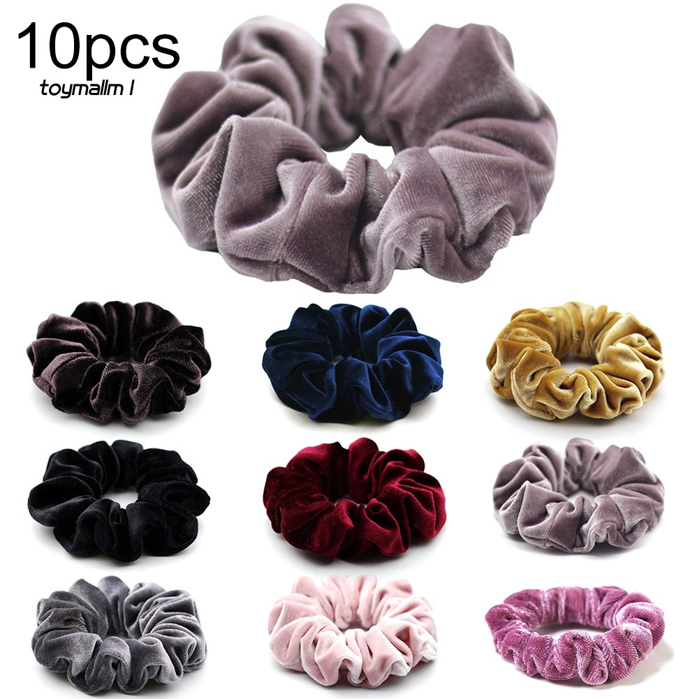 Lots 20Pcs Women Girls Elastic Scrunchie Hair Ring Tie Ropes Ponytail Holder UK