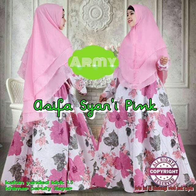Gamis Wanita/Maxi/Busana Muslim/Hijab/Gamis Syari Asifa Blue   Shopee