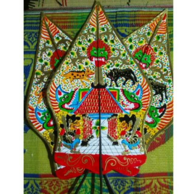 Wayang Kulit Kertas Mainan Gunungan Kayon Shopee Indonesia