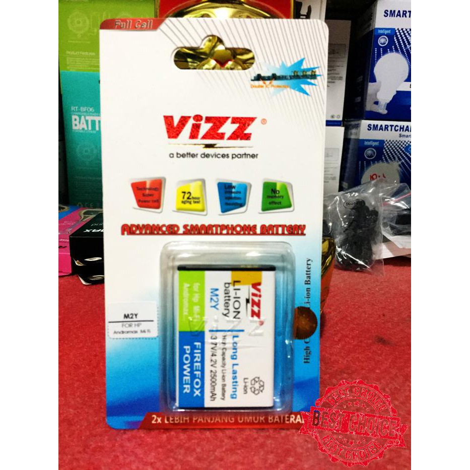 Baterai Vizz Modem Mifi M2y Original Shopee Indonesia Double Power Andromax Mi Fi