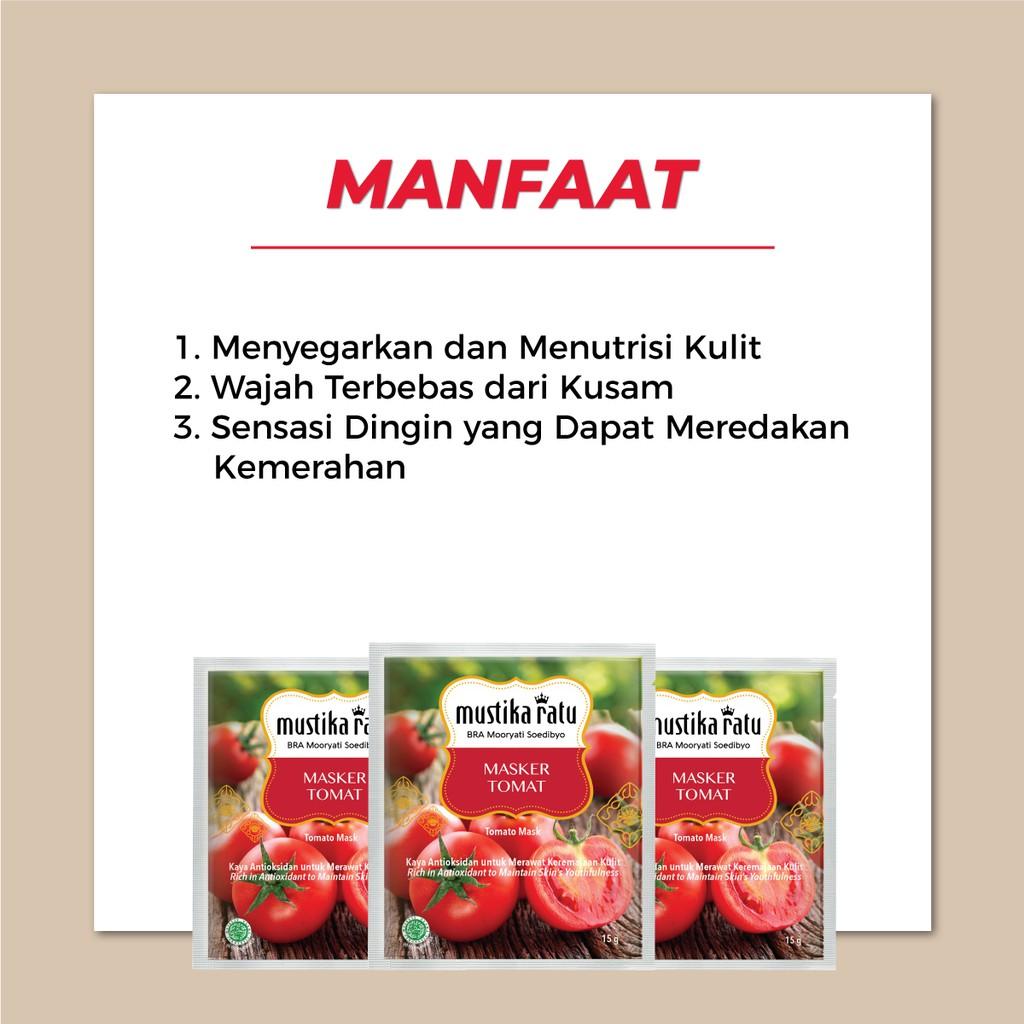 Mustika Ratu Masker Wajah Tomat 15gr Untuk Wajah Tampak Lebih Segar Shopee Indonesia