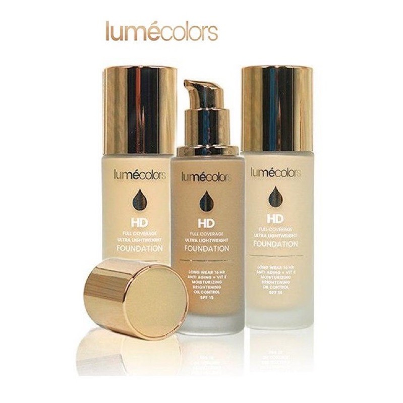 Lume Foundation Light By Lumecolors Hd Foundation Full Coverage Ultra Lightweight Shopee Indonesia