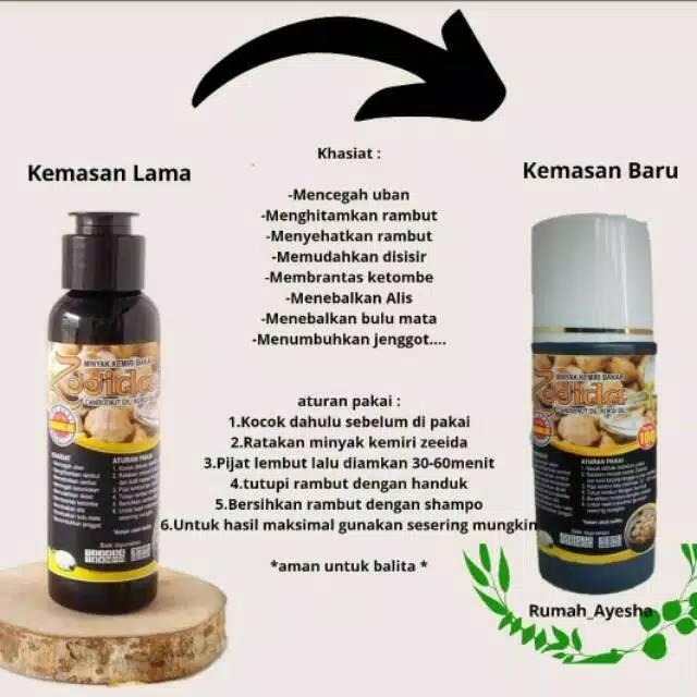Minyak Kemiri Zeeida Herbal Minyak Rambut Penumbuh Rambut Kemiri Bakar Minyak Kemiri Original Shopee Indonesia