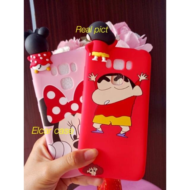Soft jelly case silikon softcase intip 3d 4d karakter asus zenfone 3 zenfone3 max 5,