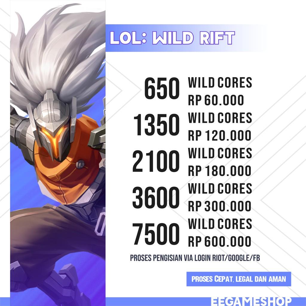 LoL Wild Rift (wild core) VIA LOGIN RIOT/FB/GOOGLE