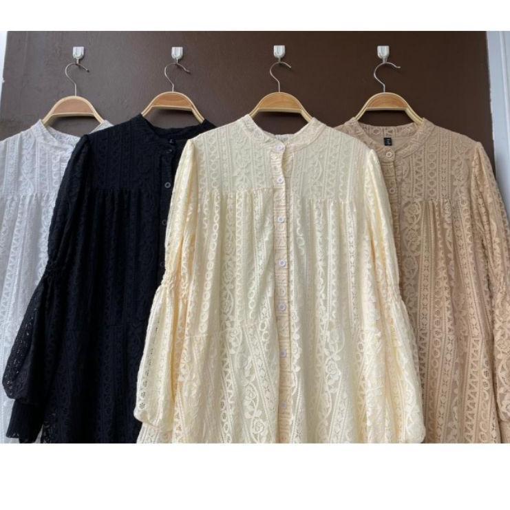 Special Price - Delia brukat dress gamis import premium lfy