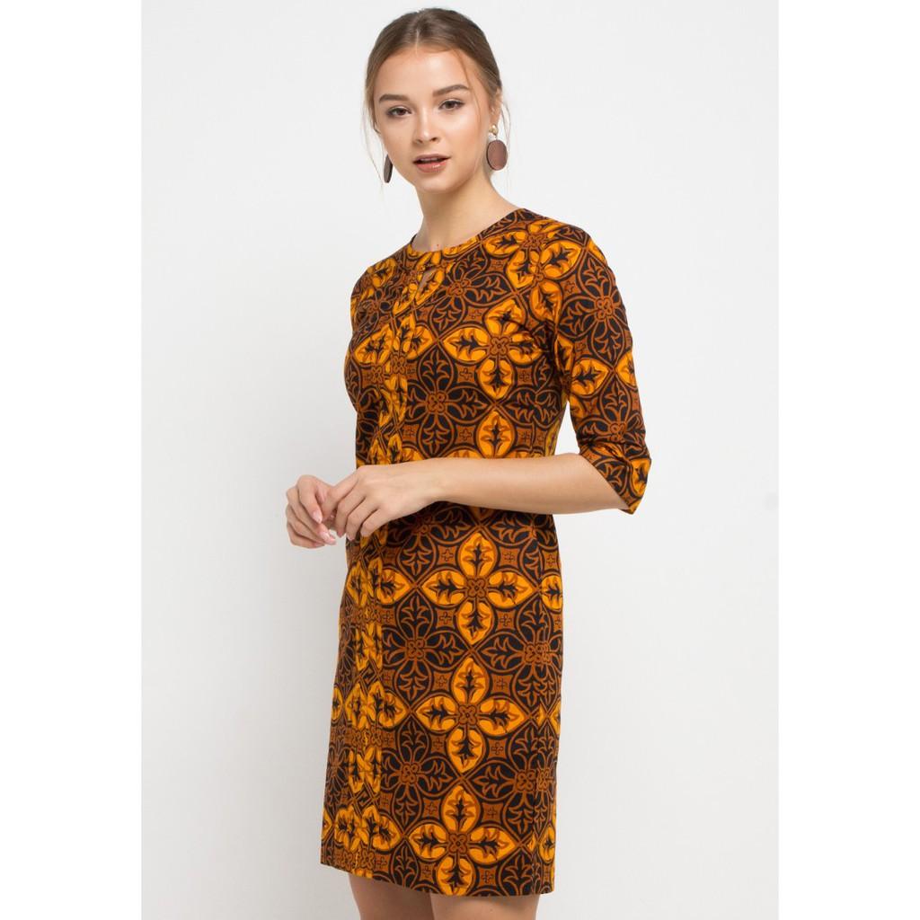 Arjuna Weda Sackdress Batik Mukti Lereng Kawung - Cokelat | Shopee Indonesia