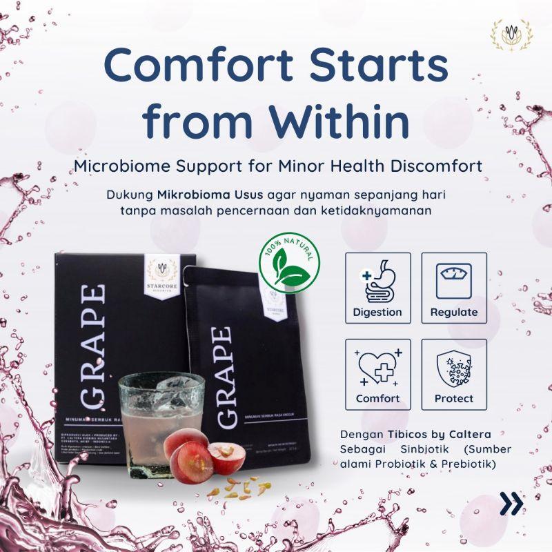 Starcore Biodrink Grape (berat bersih 12.5gr 15sachets)