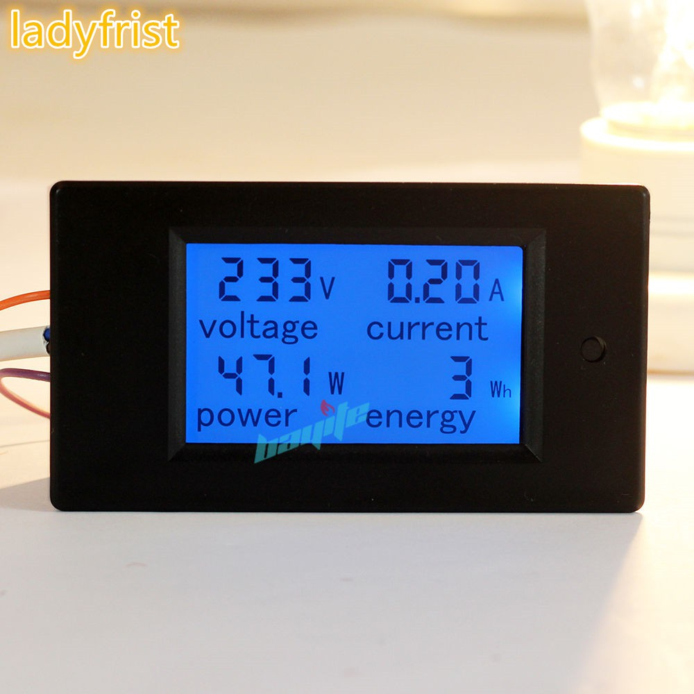 4 in 1 AC 80~260V/20A LCD Digital Voltmeter Ammeter Wattmeter Power Energy Meter   Shopee Indonesia