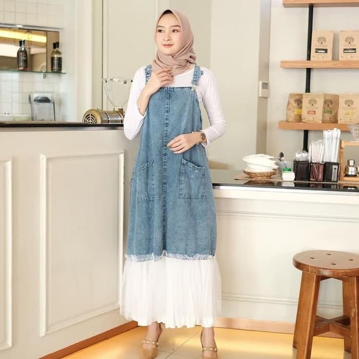Termurah Gamis Remaja Modern Terbaru Mikka 2020 Khaira Sya Xw397 Mozy Overall Denim Fashion Musli Shopee Indonesia