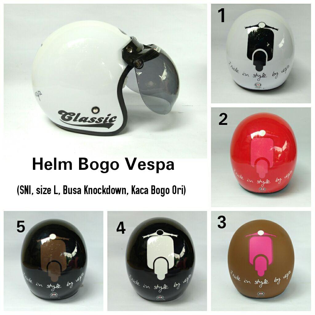 Helm Bogo Vespa Red F Doff Daftar Update Harga Terbaru Dan Retro Fino Mrc Grey Jpn