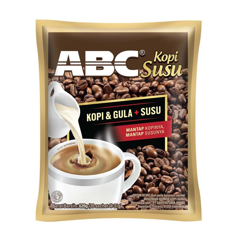 ABC White Instant Coffee Pack 10 (Isi 10 Sachet Berat 20 Gram) | Shopee Indonesia