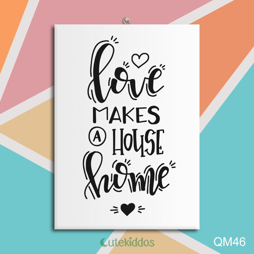 Hiasan Dinding Poster Kayu Quotes Home Decor Love Makes A House Home Shopee Indonesia