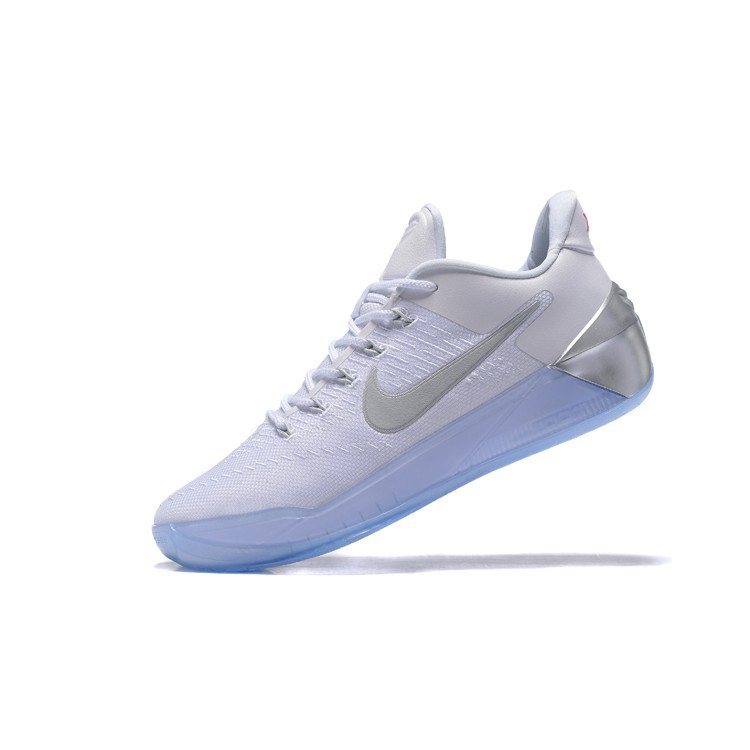 Sepatu Basket Desain Nike Kobe A D Warna Putih Chrome Silver Metalik 852425 110 Shopee Indonesia
