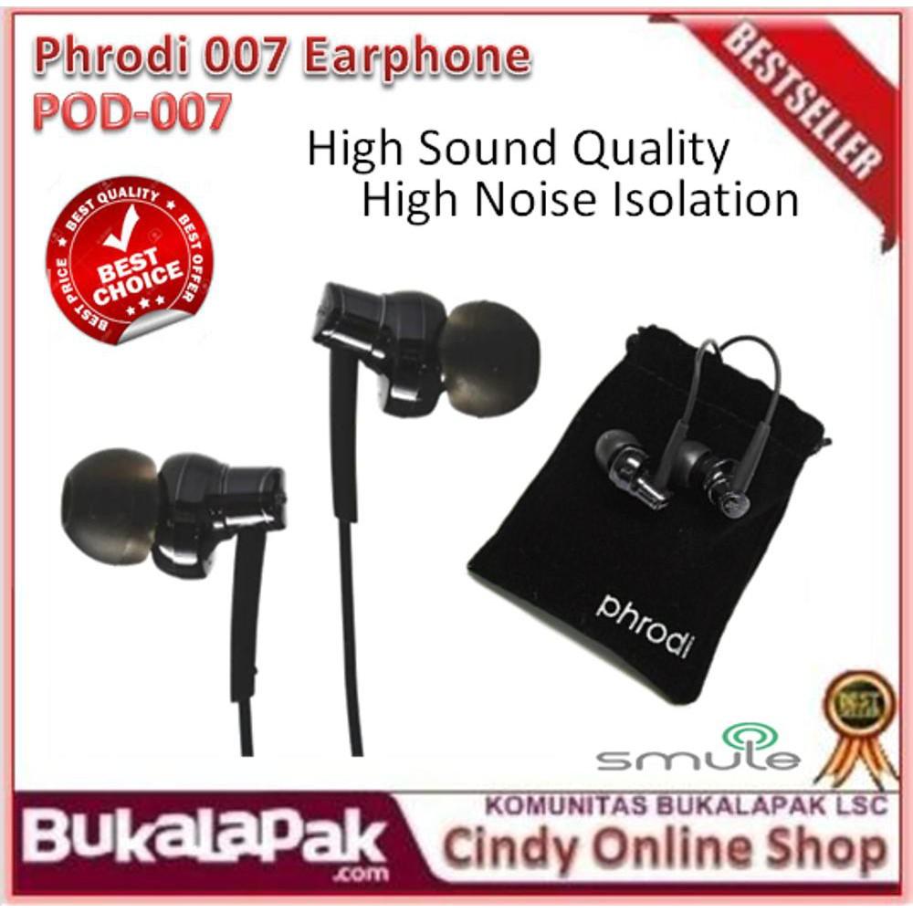 Earphone Phrodi Pod 007 Dynamic Driver System Premium Ss Shopee 007p With Mic Indonesia