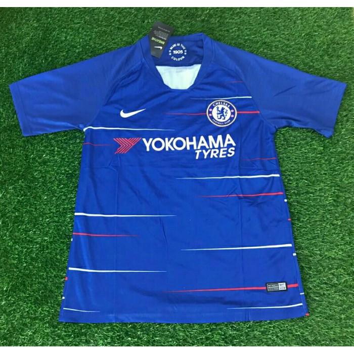 946180a09 atas kualitas Jersey Chelsea 18/19 Home Baju Bola Jersey Bola Grade copy Ori  1:1 | Shopee Indonesia