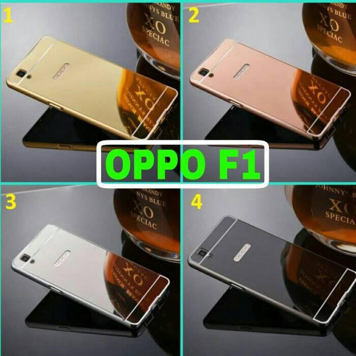 Hardcase Softcase Casing Slide Mirror Bumper Case Oppo F1 / Oppo F1s / Oppo A59 | Shopee Indonesia