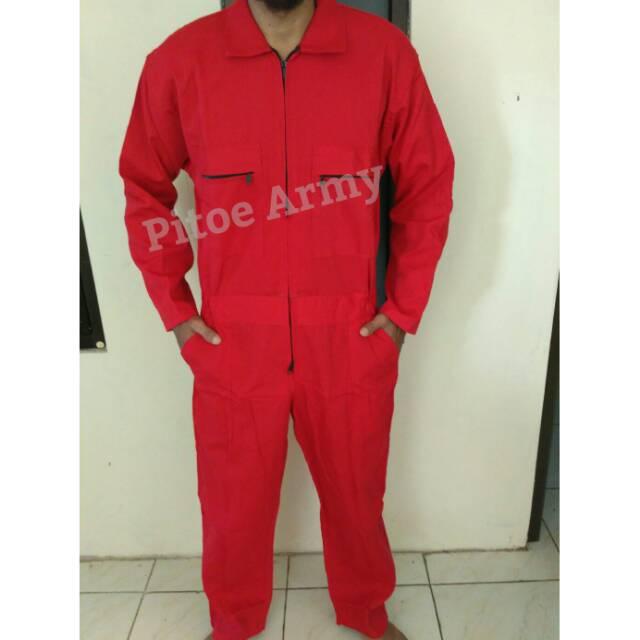 Wearpack Merah Katelpak Overall Seragam Safety Seragam