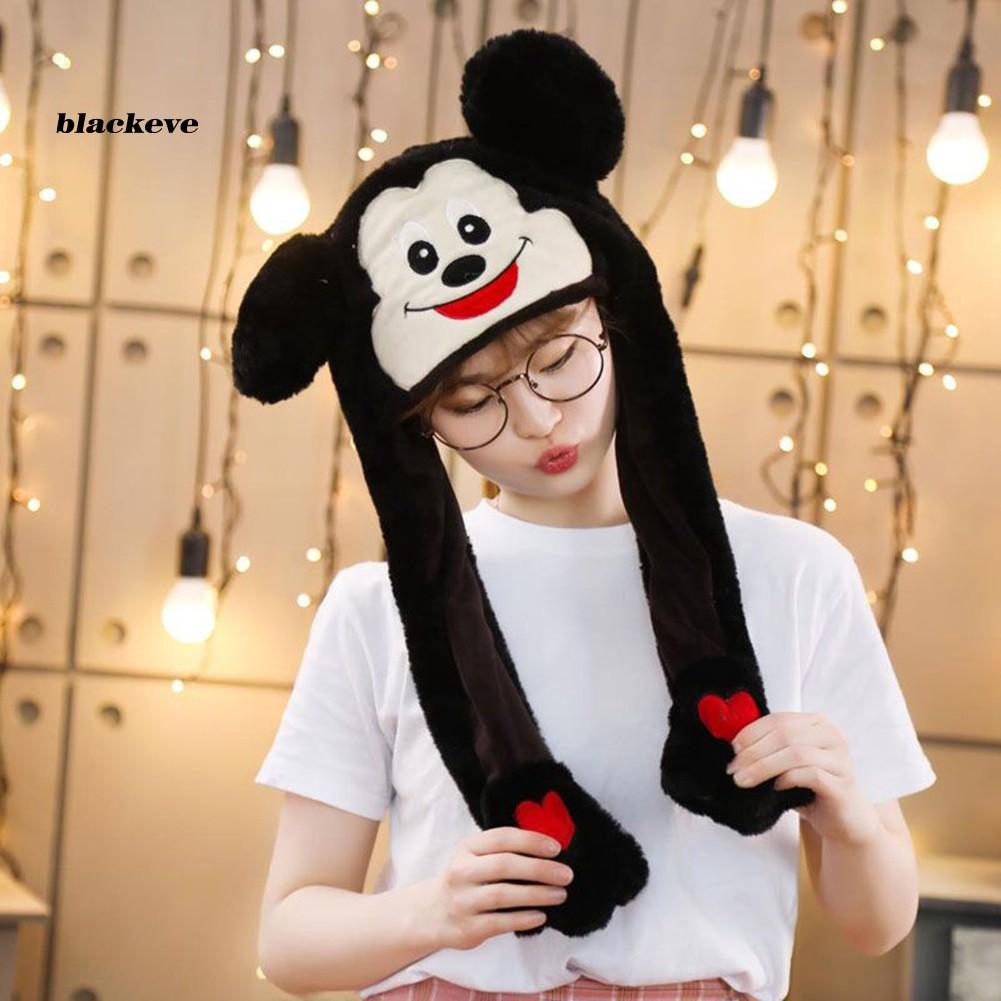 1pc Girls Cute Rabbit Beret Lovely Mini Plush Ball Cap Hat