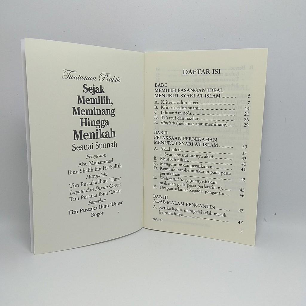 Buku Saku Sejak Memilih Meminang Hingga Menikah Sesuai Sunnah