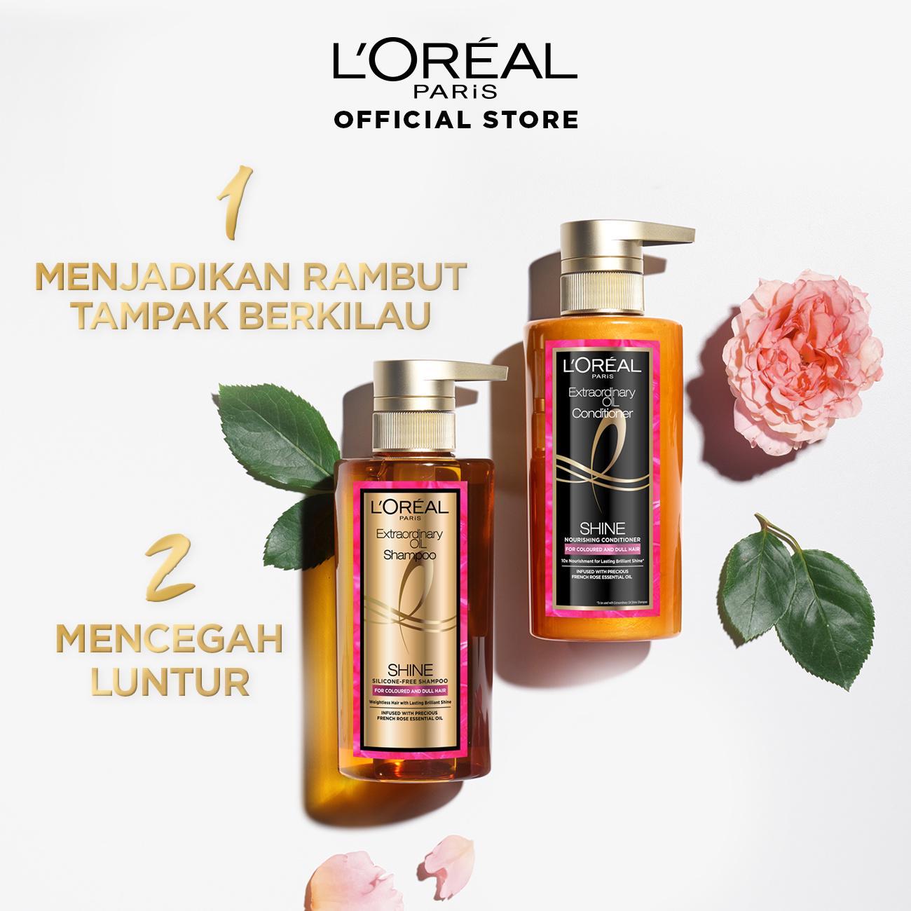 L'Oreal Paris Extraordinary Oil Premium Shampoo Shine- 440ml Twinpack-3
