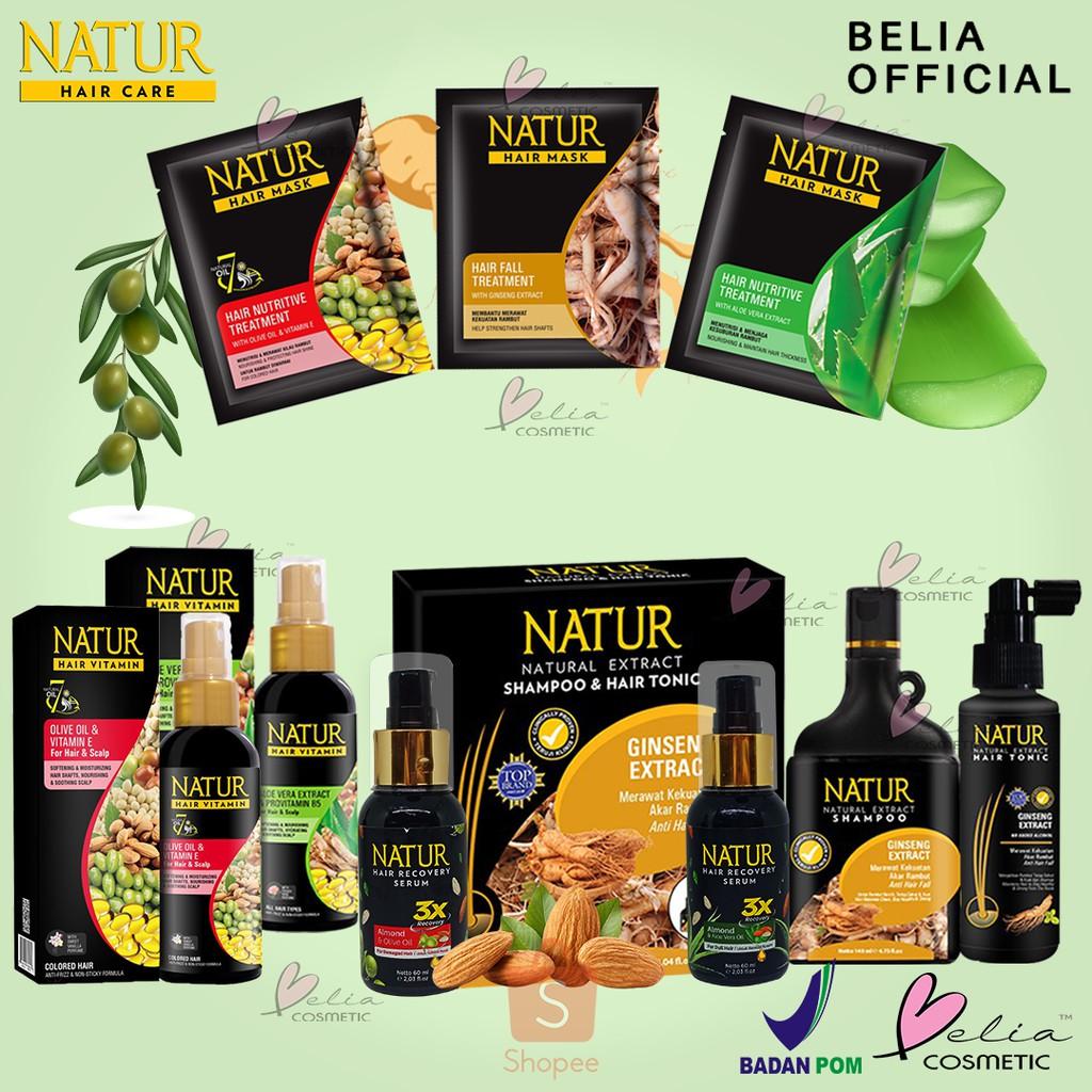 ❤ BELIA ❤ NATUR Hair Mask   Hair Vitamin   2 in 1 Shampoo & Hair Tonic(✔️BPOM)