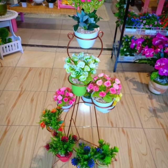 Standing Pot Rak Besi Pot Bunga Mini 10 Susun Spiral Shopee Indonesia