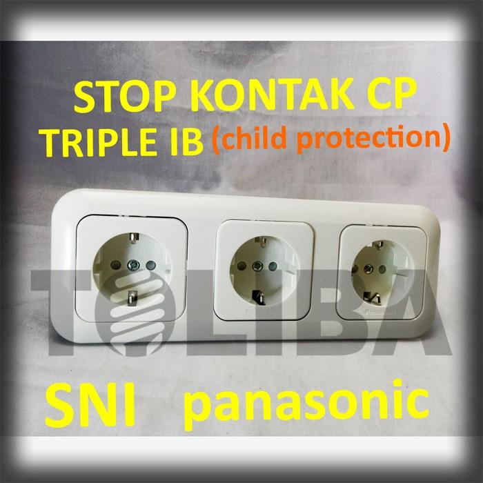 stopkontak triple stop kontak 3 lubang arde cp ib panasonic sni