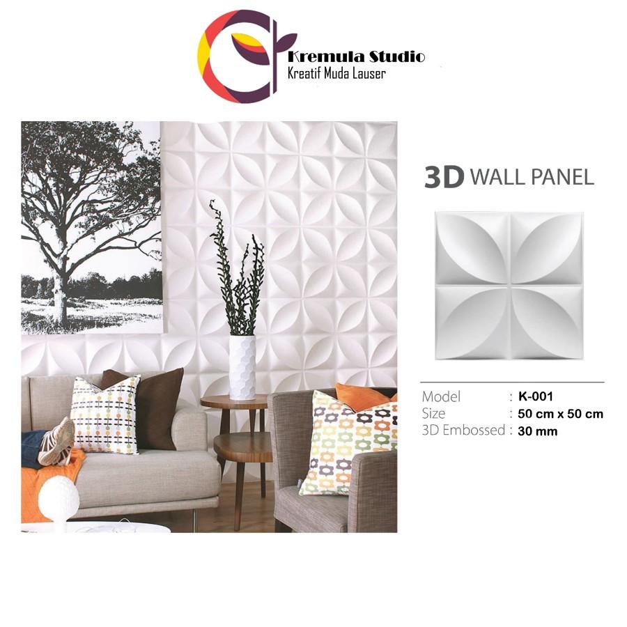 Wallpaper dinding 3D Panel Gypsum dan Semen